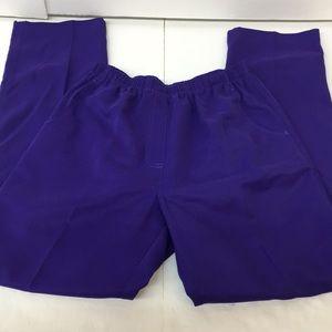 EUC Alia Purple Scrubs Bottoms Size 8 Women's